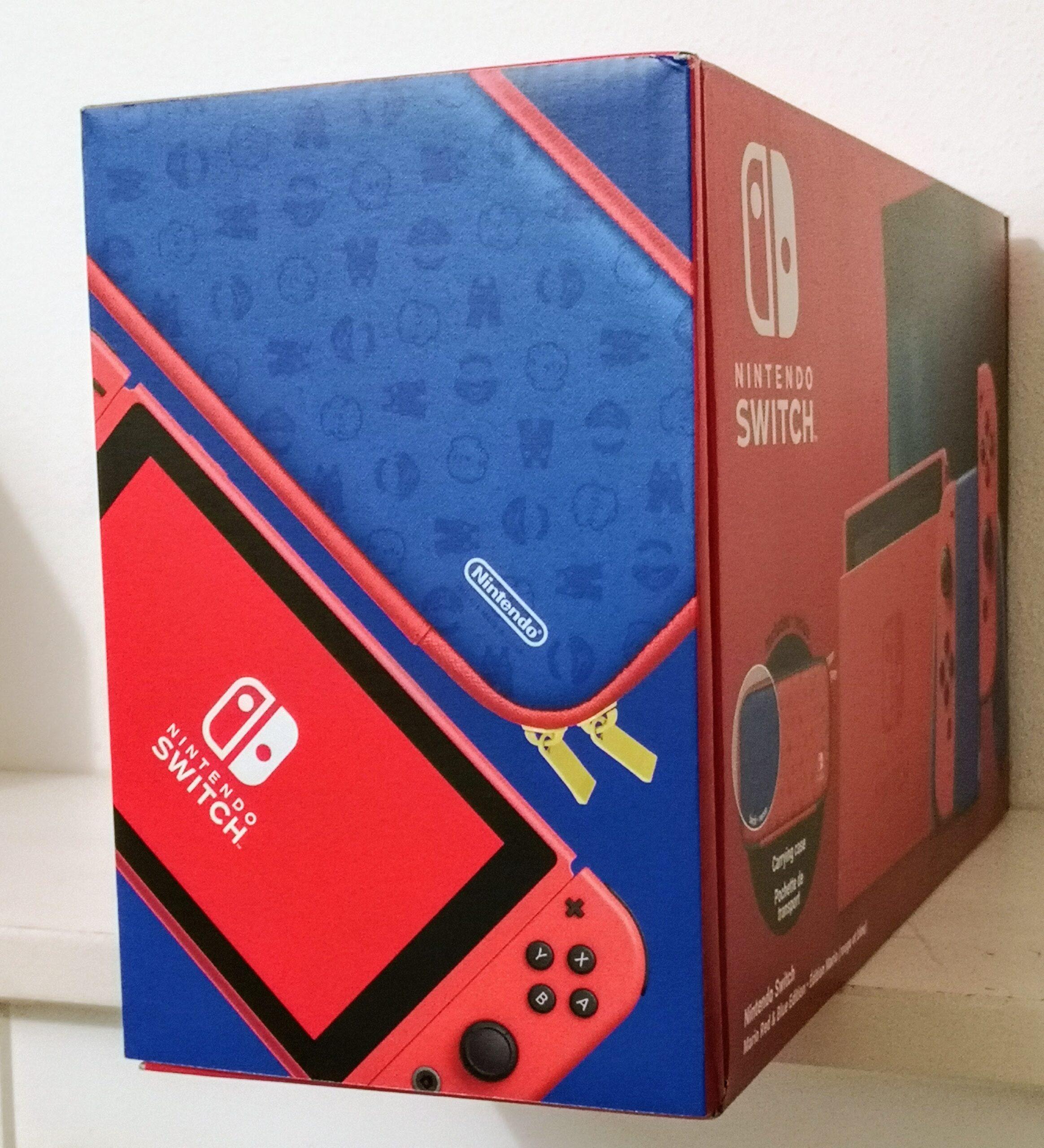 Nintendo Switch Mario Red & Blue Edition Dettaglio confezione