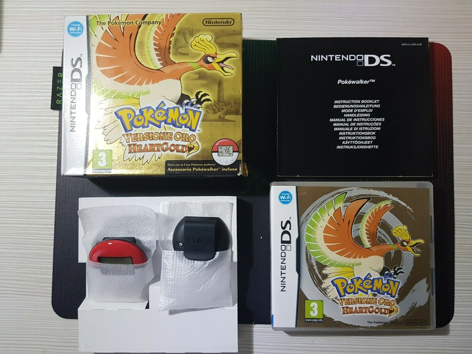 Panoramica Pokémon Versione Oro HeartGold con Pokewalker