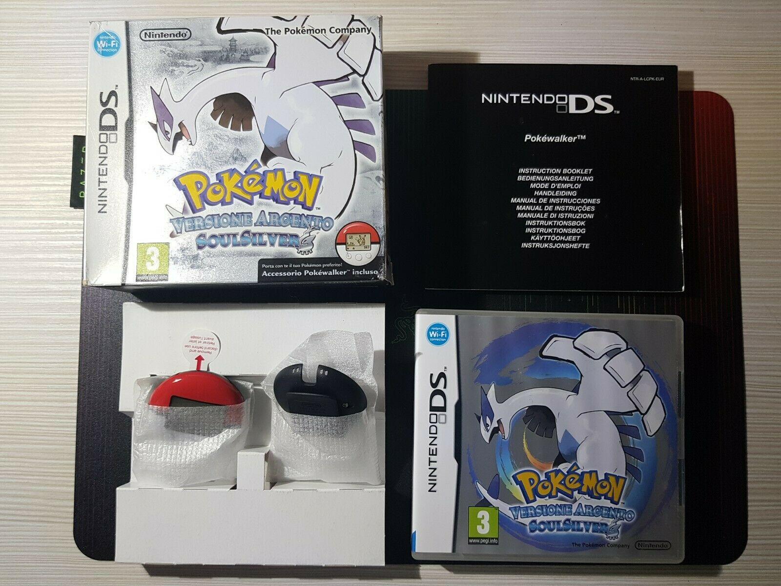 Panoramica Pokémon Versione Argento SoulSilver con Pokewalker