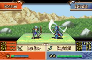 Schermata di gioco di Fire Emblem: The Sacred Stone, 04