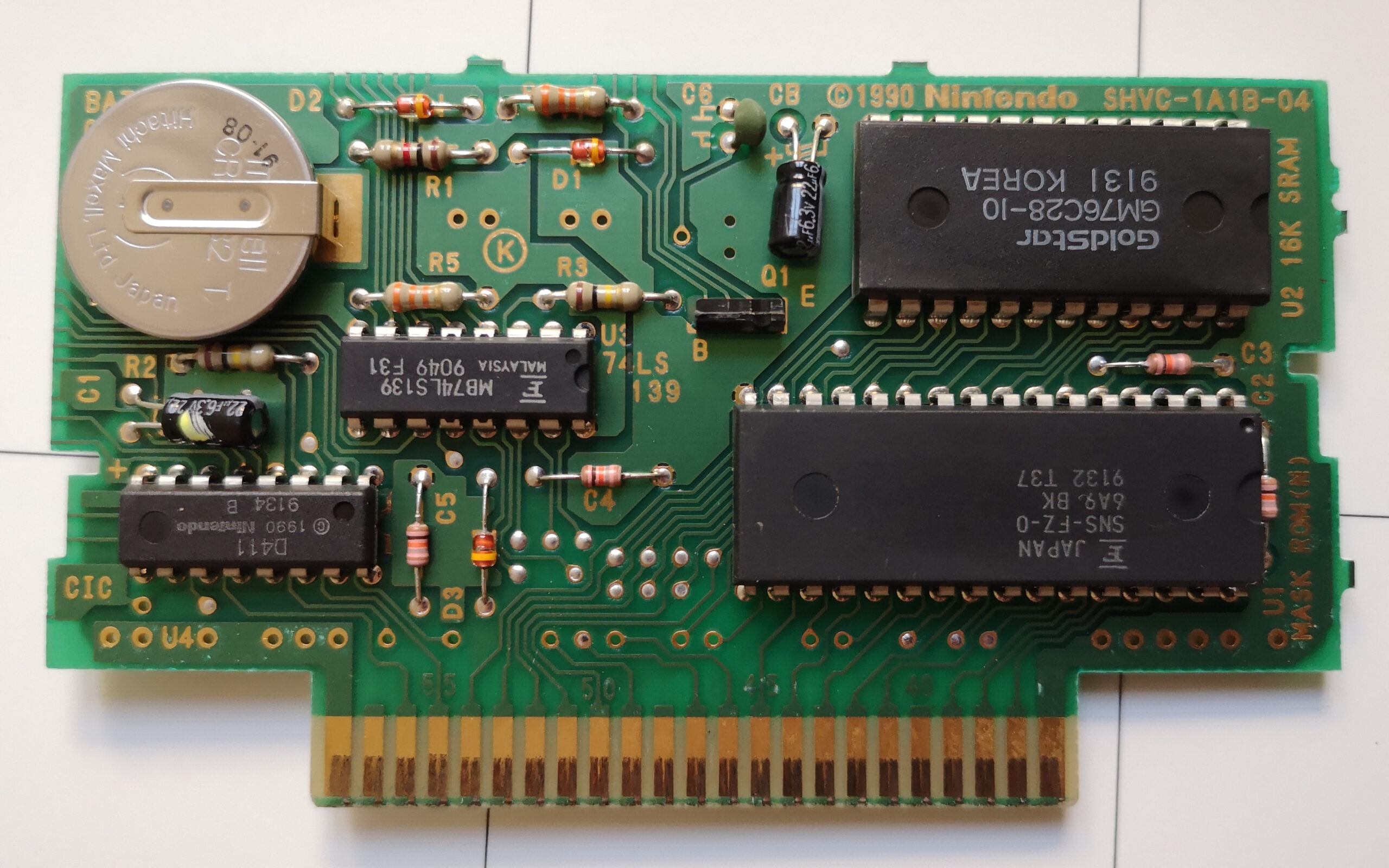 f-zero-usa cartridge pcb