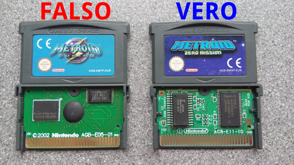 fake.metroid vs real metroid GBA