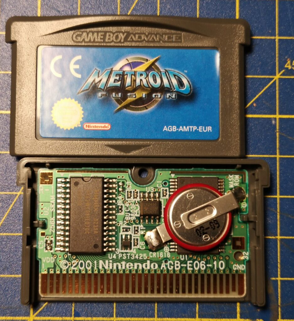 Metroid Fusion (2002 NIntendo Game Boy Advance), Printed Circuit Board