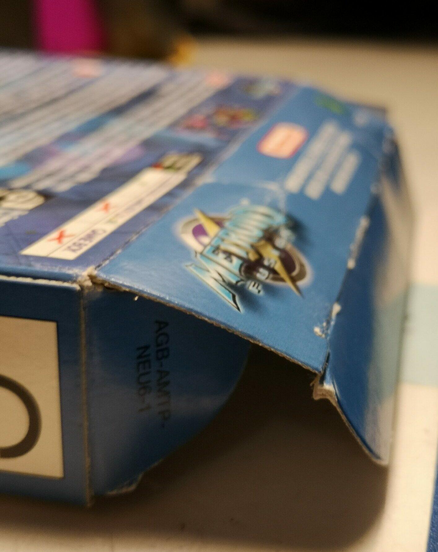 Metroid Fusion, dettagli linguetta di apertura della scatola