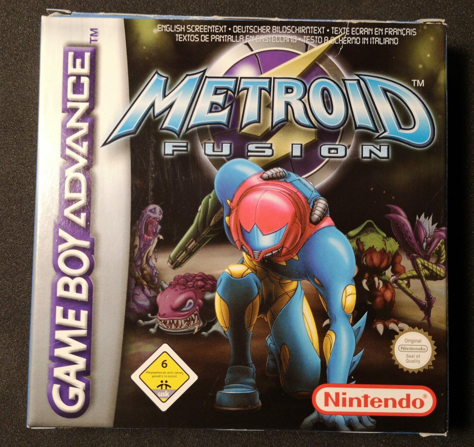 Metroid Fusion, fronte della confezione