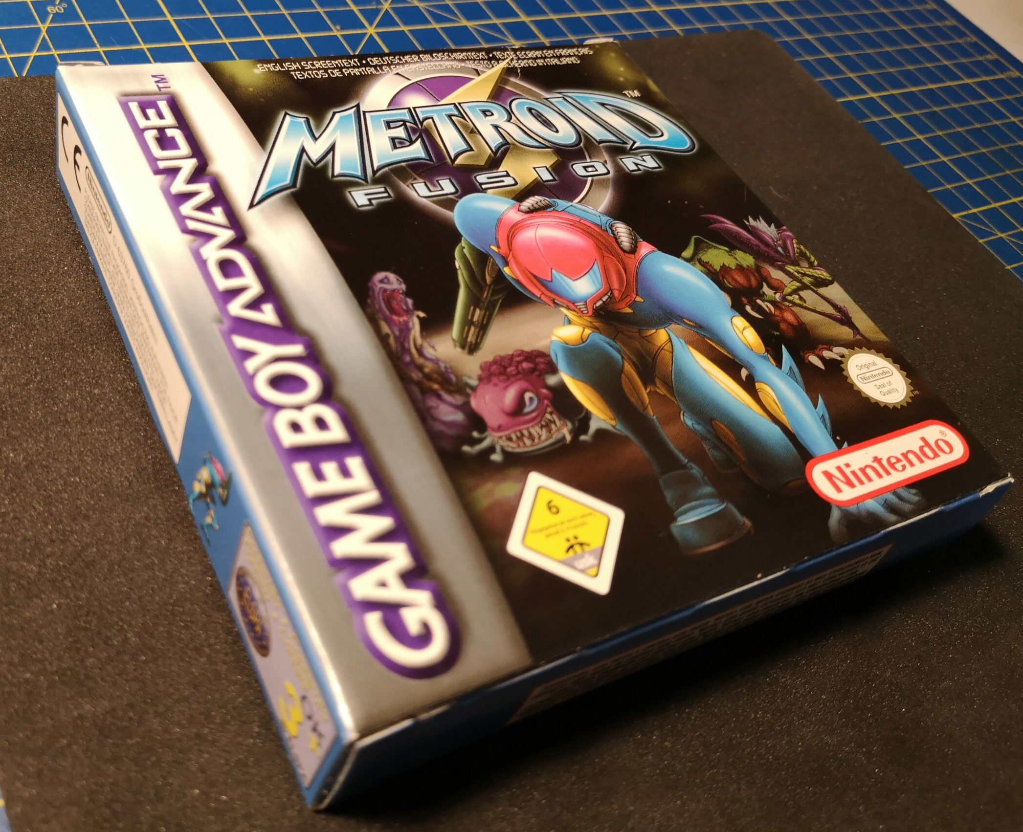 Metroid Fusion, vista fronte della confezione