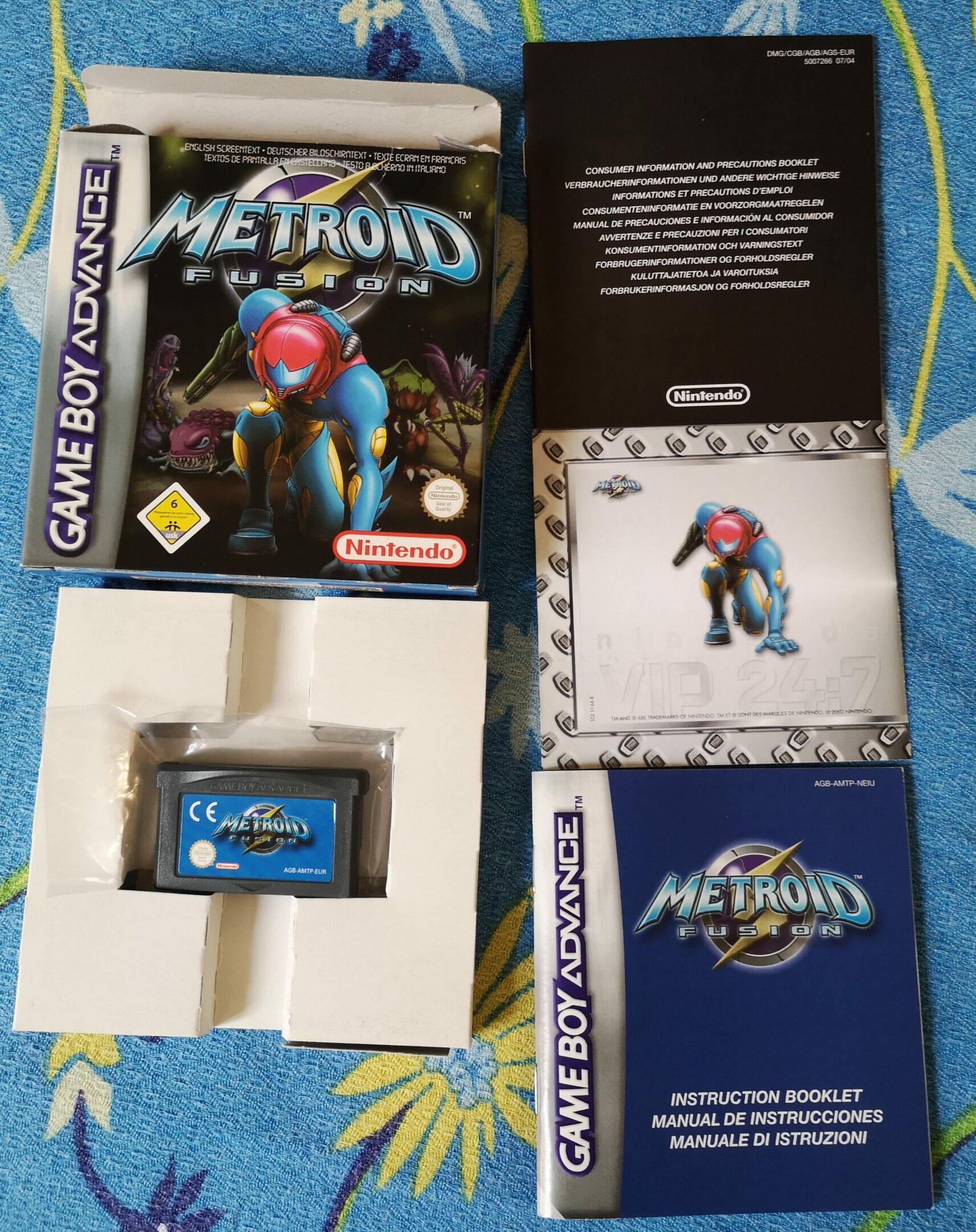 Metroid Fusion, vista contenuto della confezione