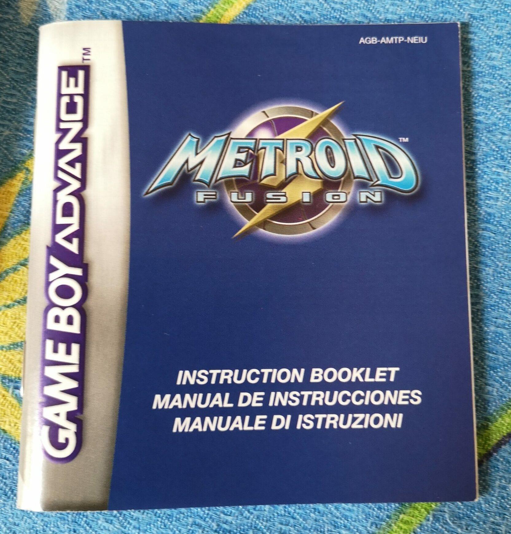 Metroid Fusion, dettagli manuale di istruzioni