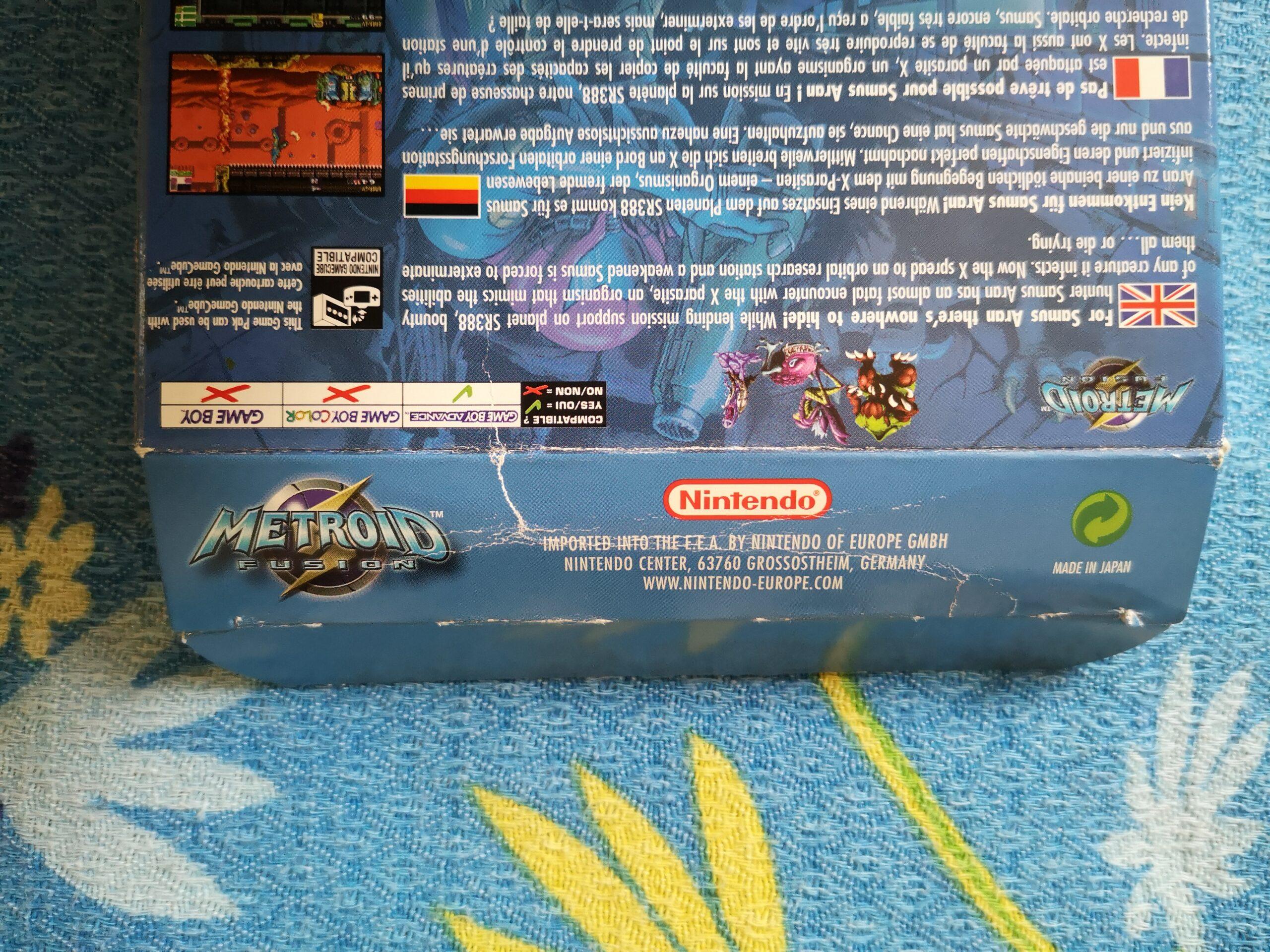 Metroid Fusion, dettagli stato conservazione 01