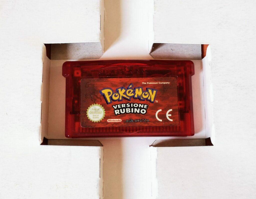 Pokémon Versione Rubino (2003 NIntendo Game Boy Advance), dettagli scheda di gioco