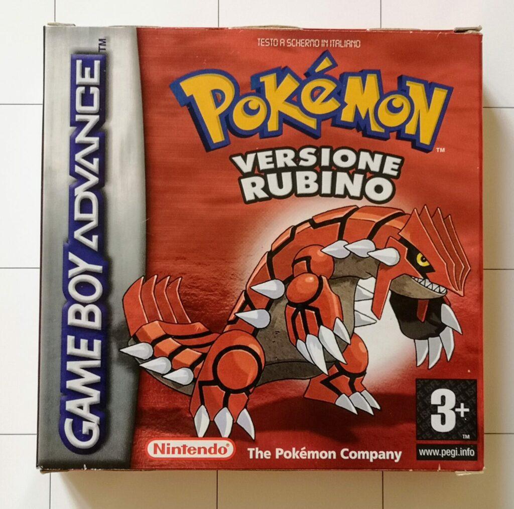 Pokemon Versione Rubino, copertina frontale