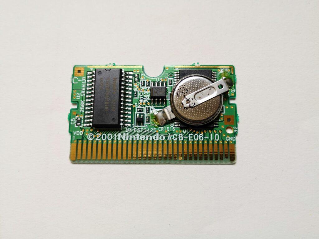 Metroid Fusion (2002 NIntendo Game Boy Advance), Printed Circuit Board