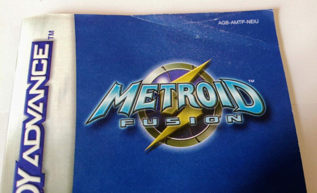 Metroid Fusion (2002 NIntendo Game Boy Advance), dettagli manuale di istruzioni