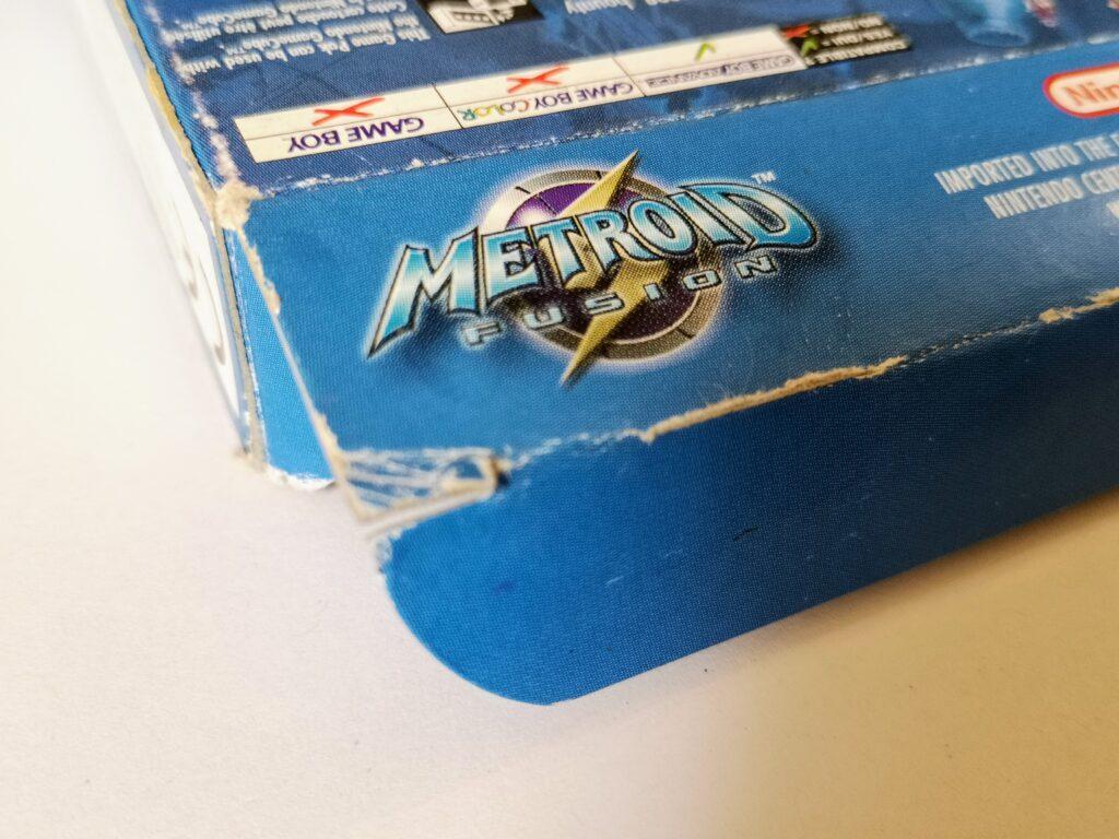 Metroid Fusion (2002 Nintendo Game Boy Advance), dettagli stato conservazione 02