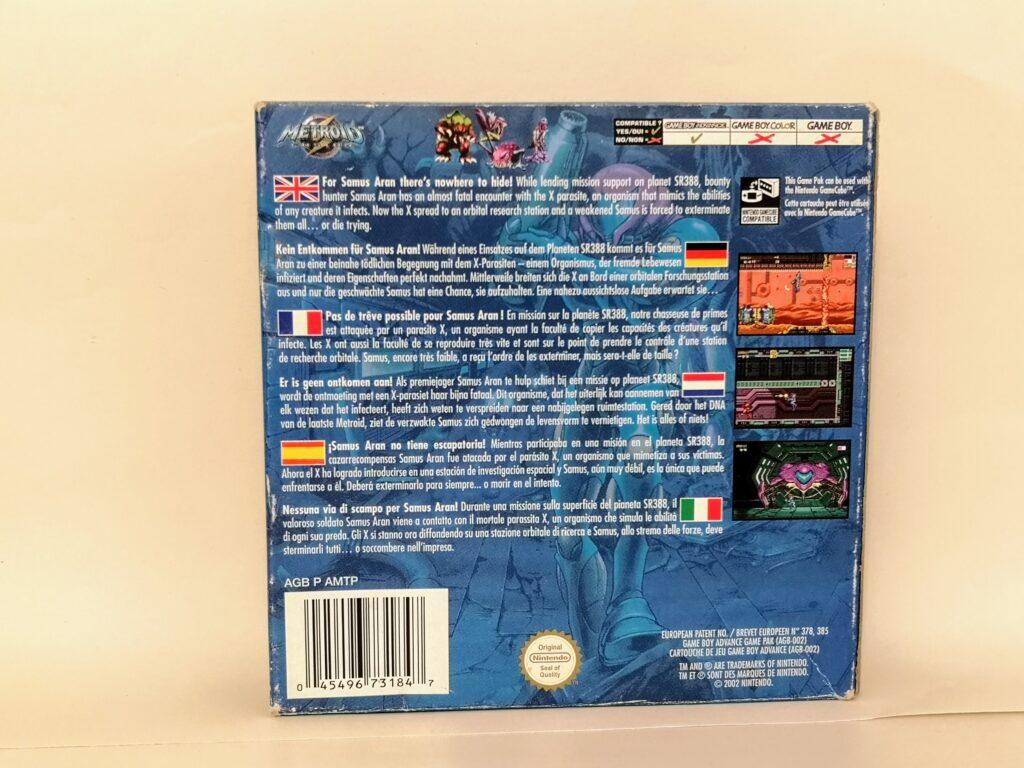 Metroid Fusion, copertina retro
