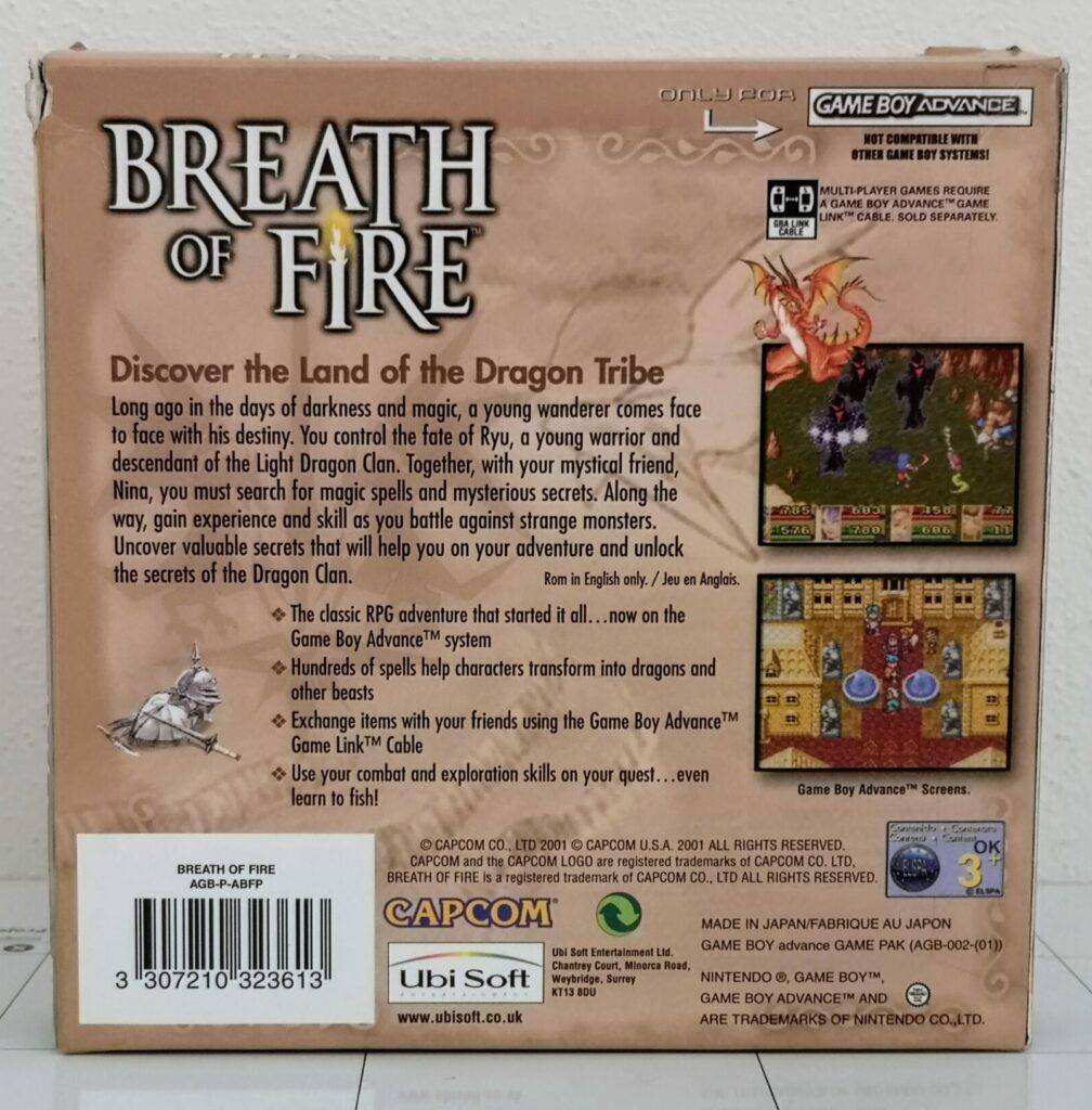 Breath OF Fire (GameBoy Advance, Capcom 2001), copertina retro