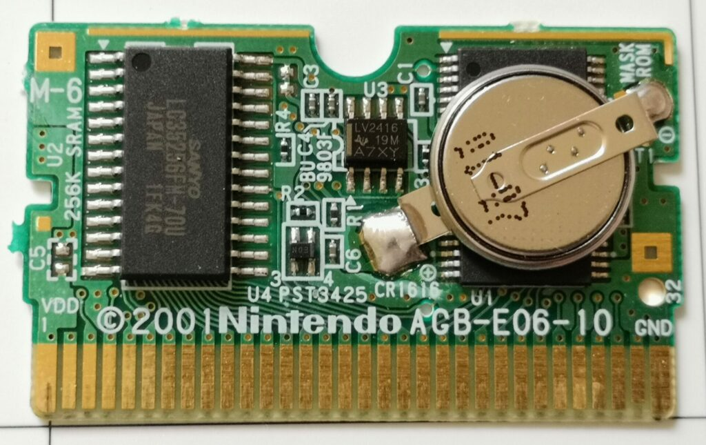 Breath OF Fire (GameBoy Advance, Capcom 2001), Printed Circuit Board