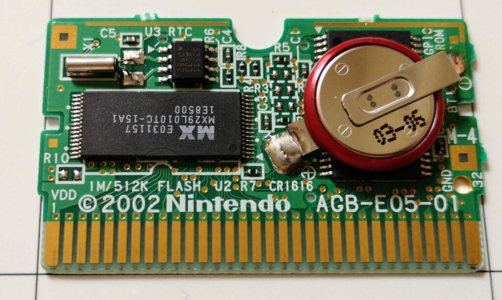 Pokémon Versione Zaffiro, Printed Circuit Board