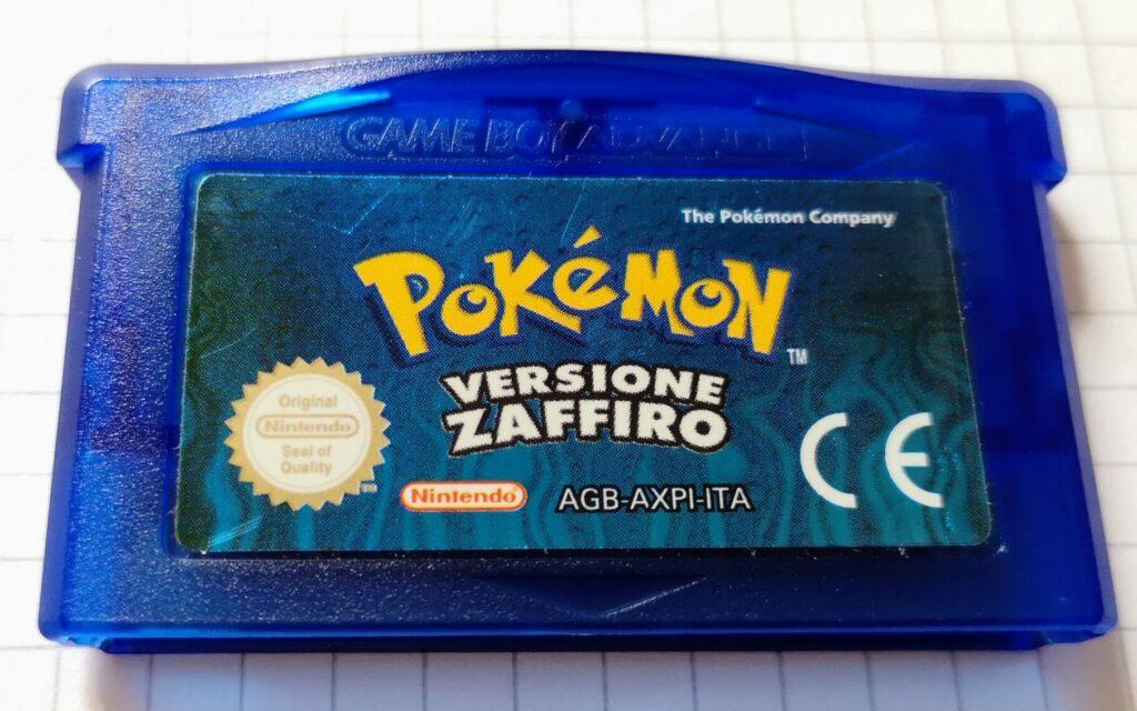 Pokémon Versione Zaffiro (2003 NIntendo Game Boy Advance), dettagli scheda di gioco