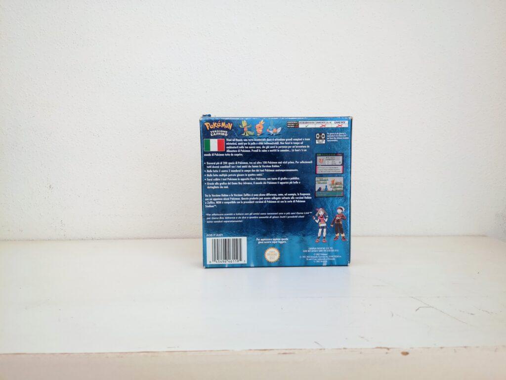 Pokémon Versione Zaffiro , copertina retro