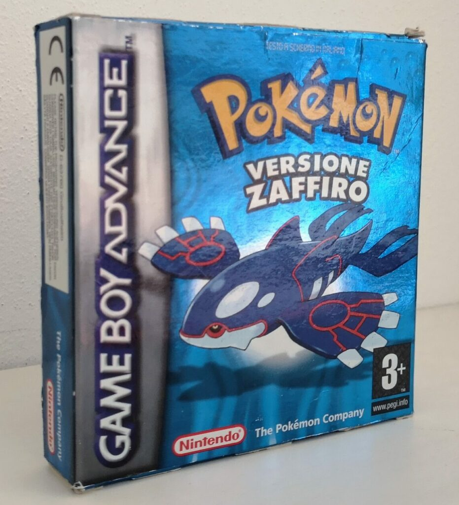Pokémon Versione Zaffiro, vista copertina frontale