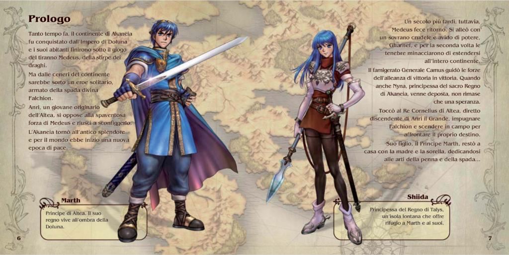 Schermata del manuale di Fire Emblem Shadow Dragon IT