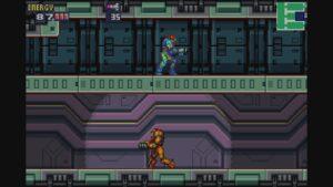 Schermata di gioco di Metroid Fusion, 02