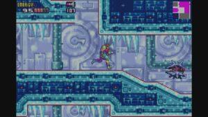 Schermata di gioco di Metroid Fusion, 03