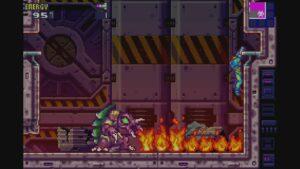 Schermata di gioco di Metroid Fusion, 09