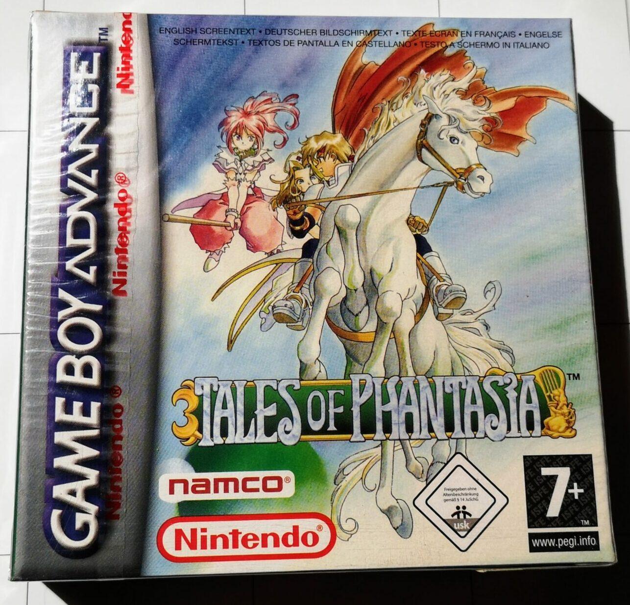Tales of Phantasia (2006 Nintendo Game Boy Advance), dettaglio colori copertina frontale