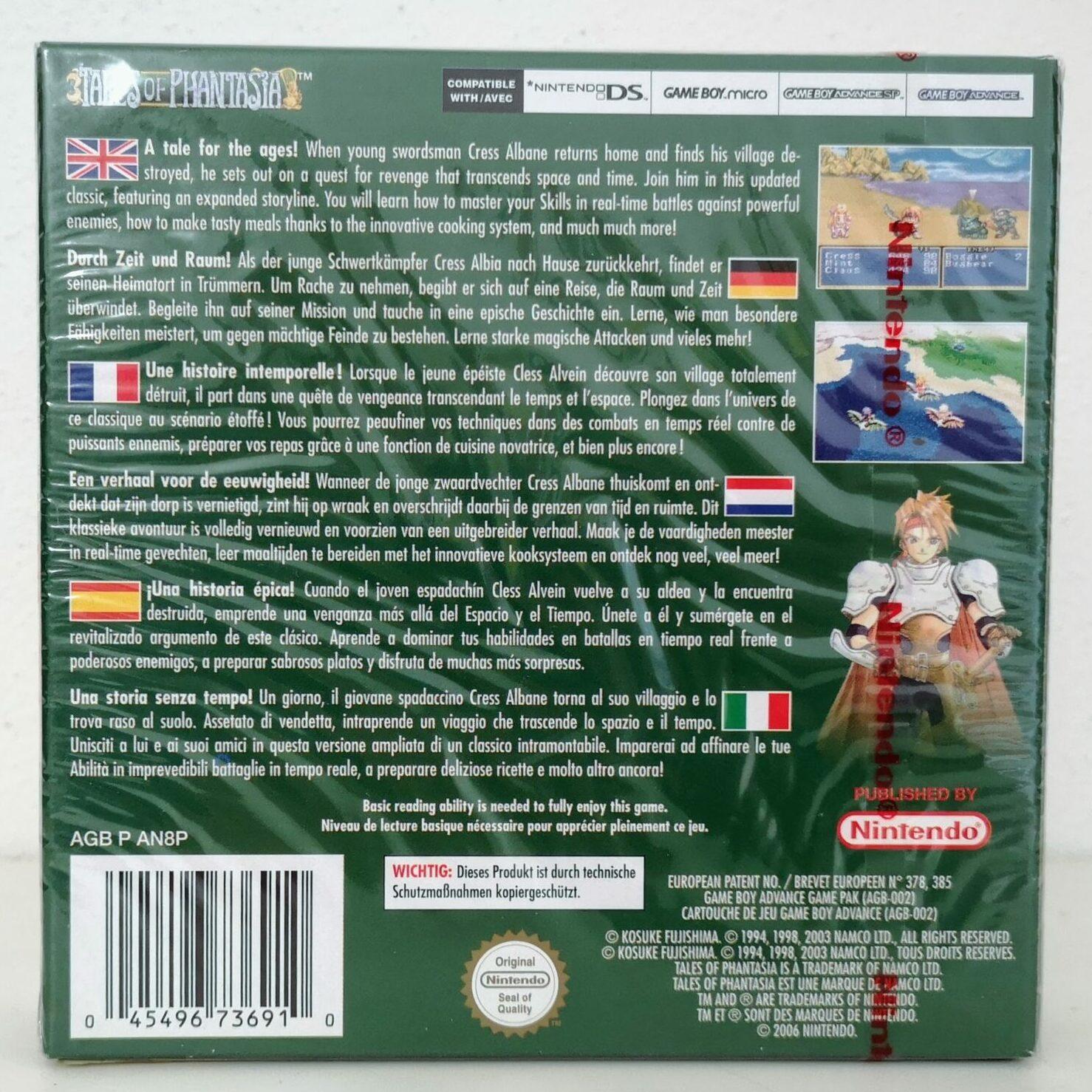 Tales of Phantasia (2006 Nintendo Game Boy Advance), copertina retro