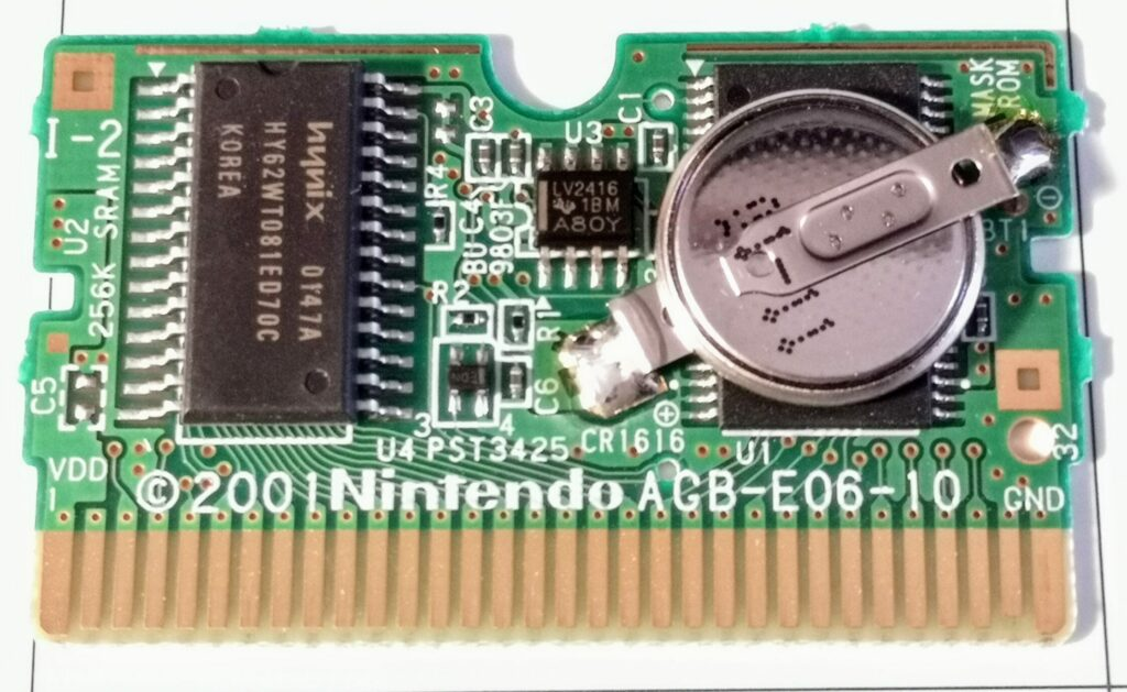 Breath of Fire II (Nintendo GameBoy Advance, Ubisoft 2002), Printed Circuit Board