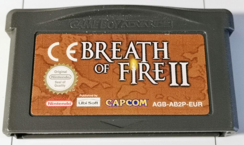 Breath of Fire II (Nintendo GameBoy Advance, Ubisoft 2002), scheda di gioco