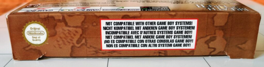 Breath of Fire II (Nintendo GameBoy Advance, Ubisoft 2002), laterale 1