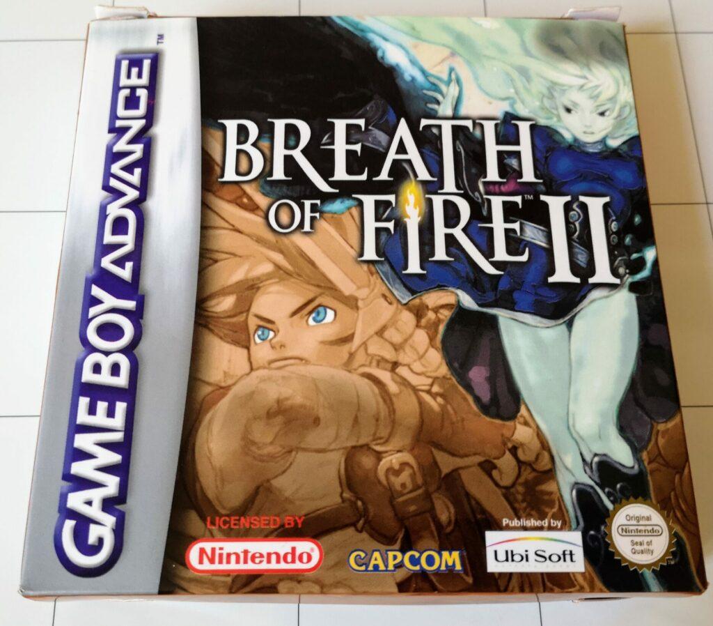Breath of Fire II (Nintendo GameBoy Advance, Ubisoft 2002), colori copertina frontale