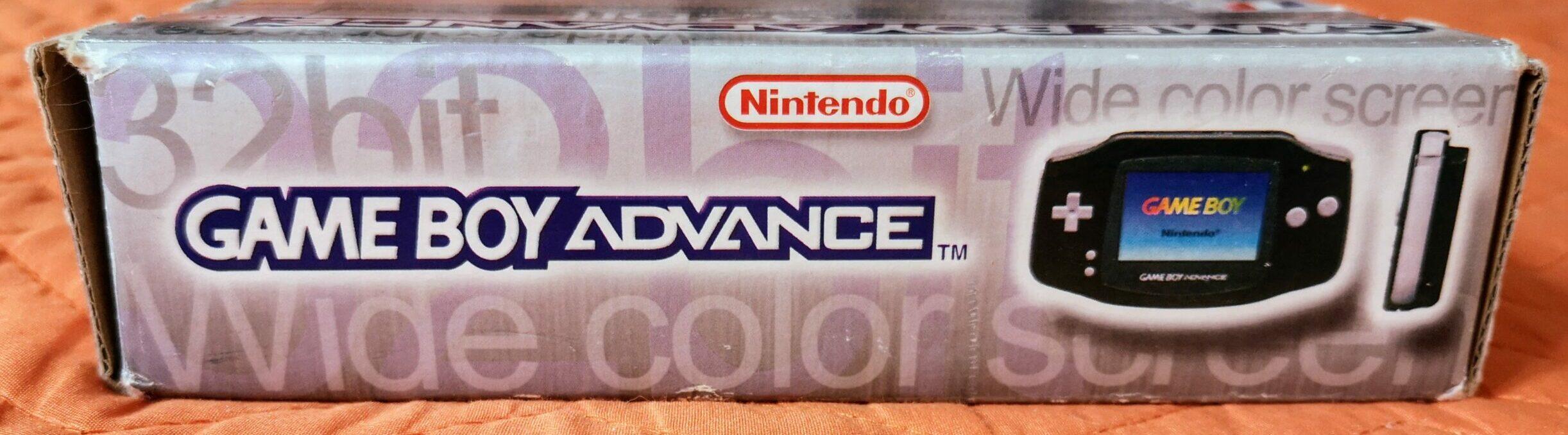 Game Boy Advance, scatola lato 2