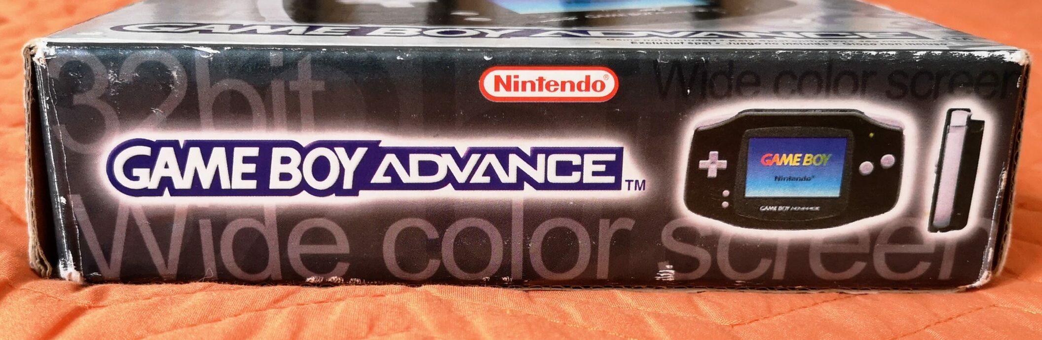 Game Boy Advance, scatola lato 1