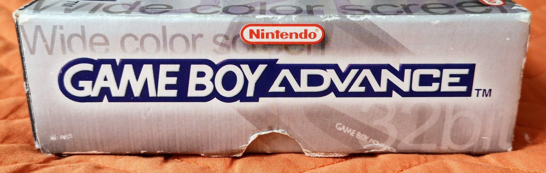 Game Boy Advance, scatola lato 4