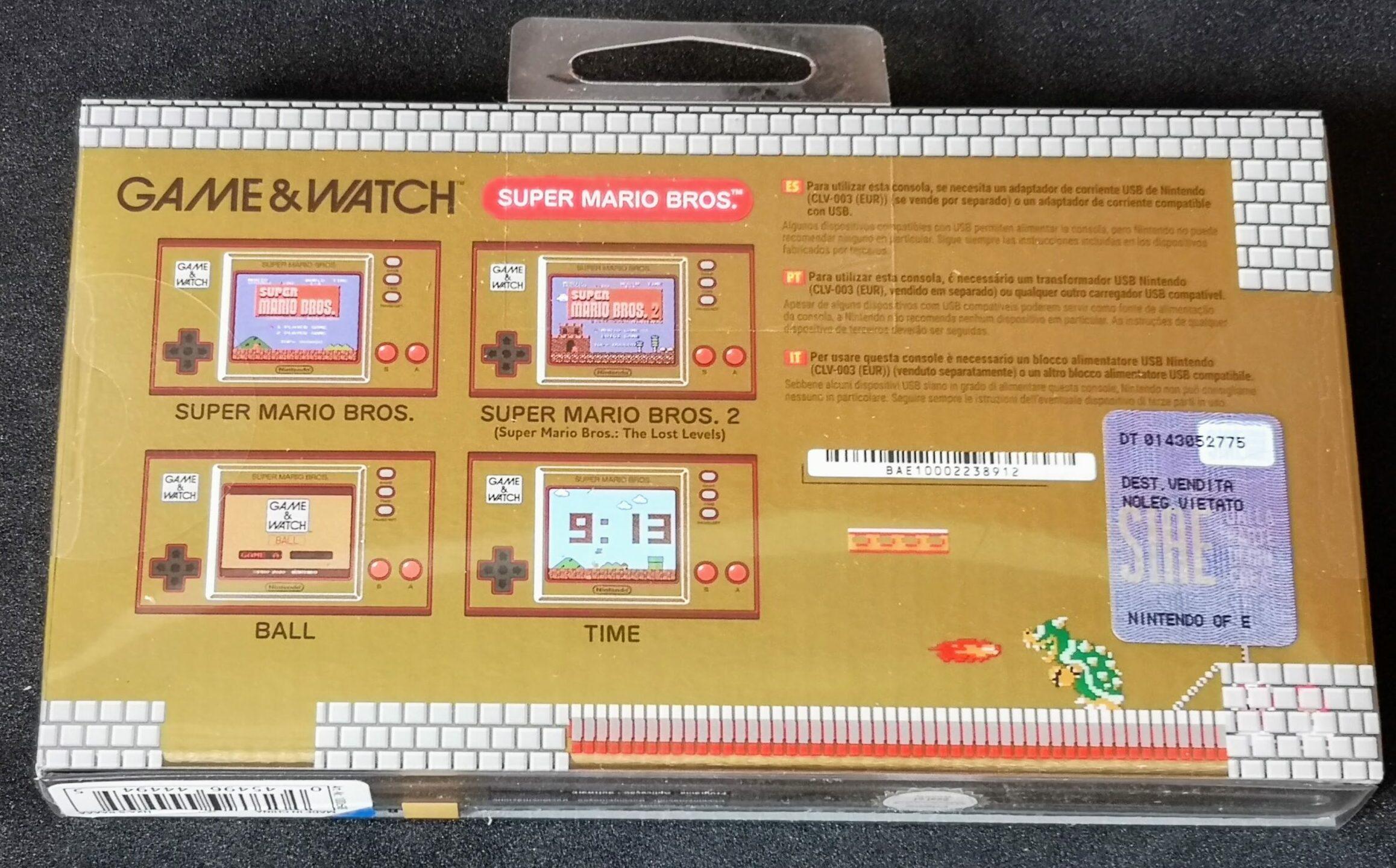 Game & Watch: Super Mario Bros. (nuovo), confezione retro