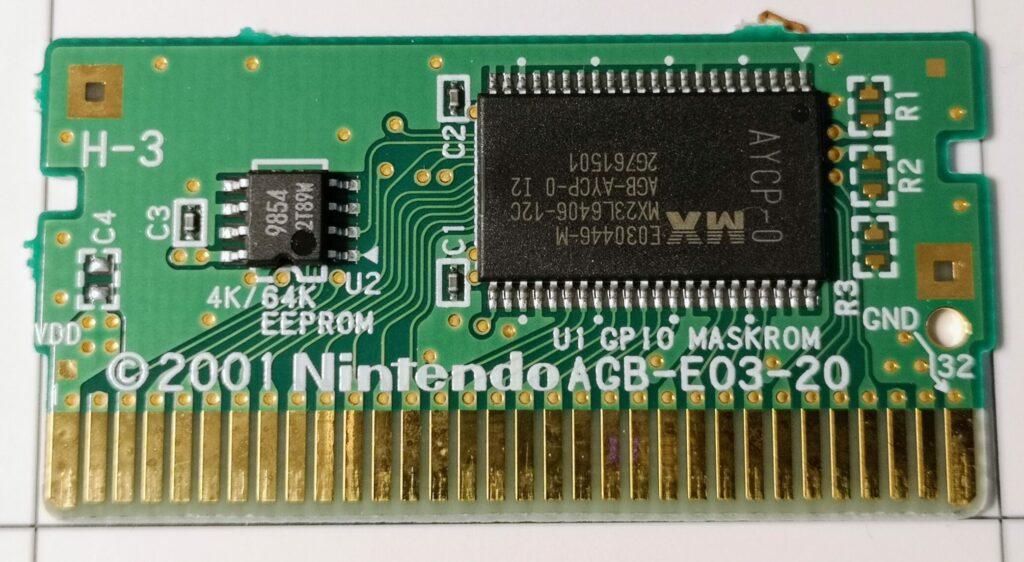 Phantasy Star Collection (2003 Nintendo Game Boy Advance), Printed Circuit Board