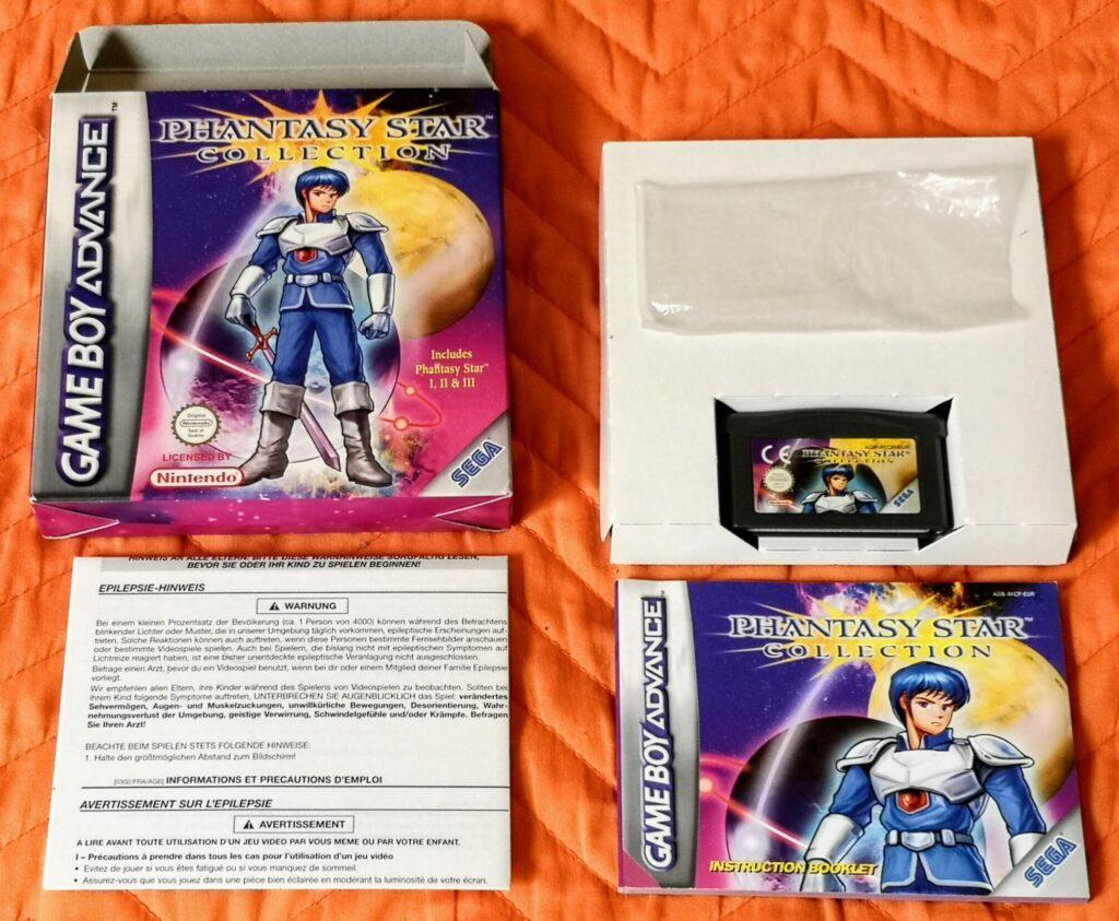 Phantasy Star Collection (2003 Nintendo Game Boy Advance), dotazione