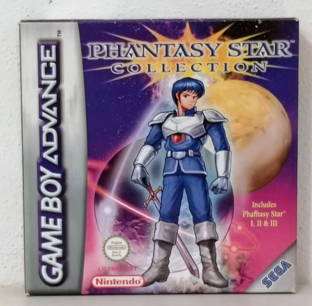 Phantasy Star Collection (2003 Nintendo Game Boy Advance), copertina frontale