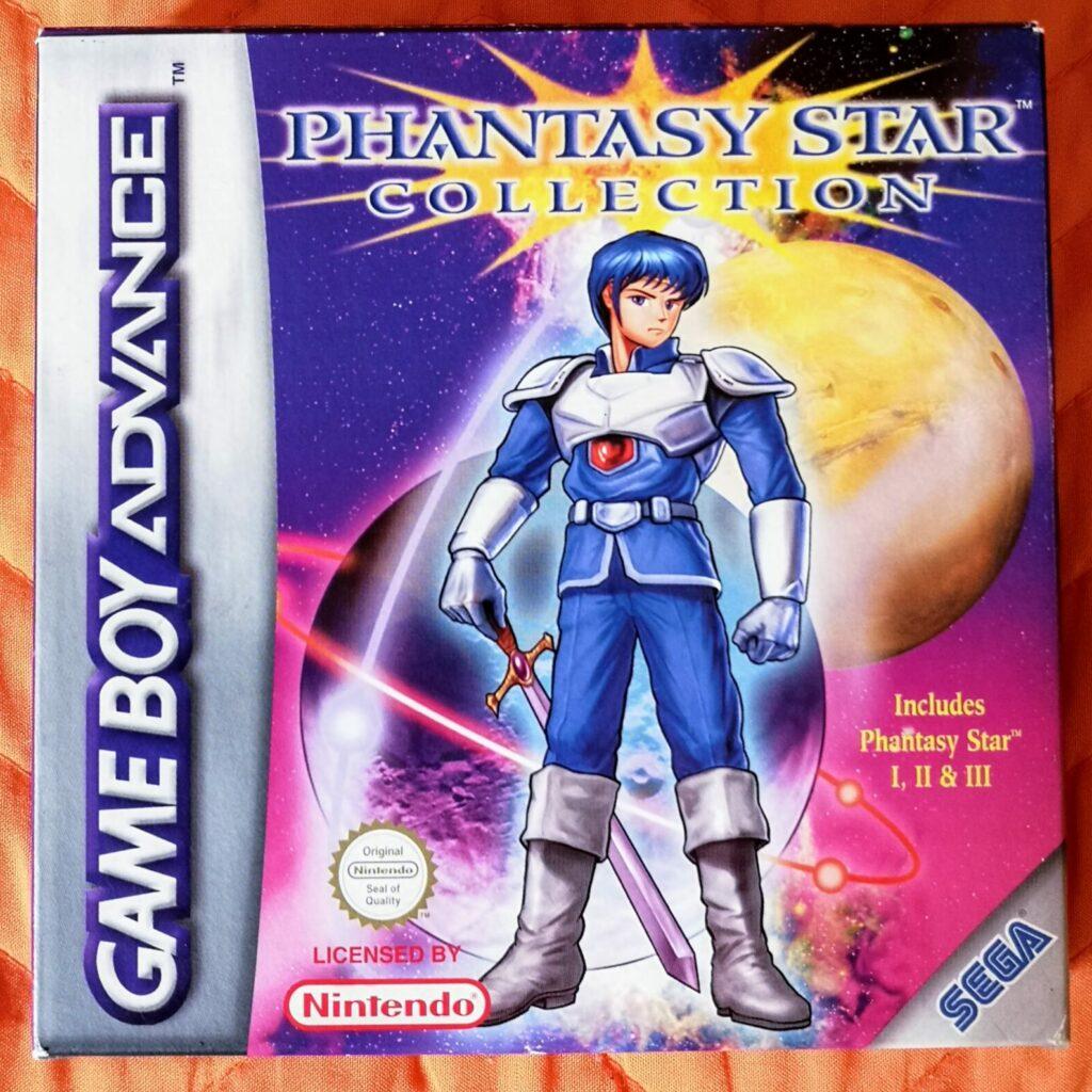 Phantasy Star Collection (2003 Nintendo Game Boy Advance), dettaglio colori copertina frontale