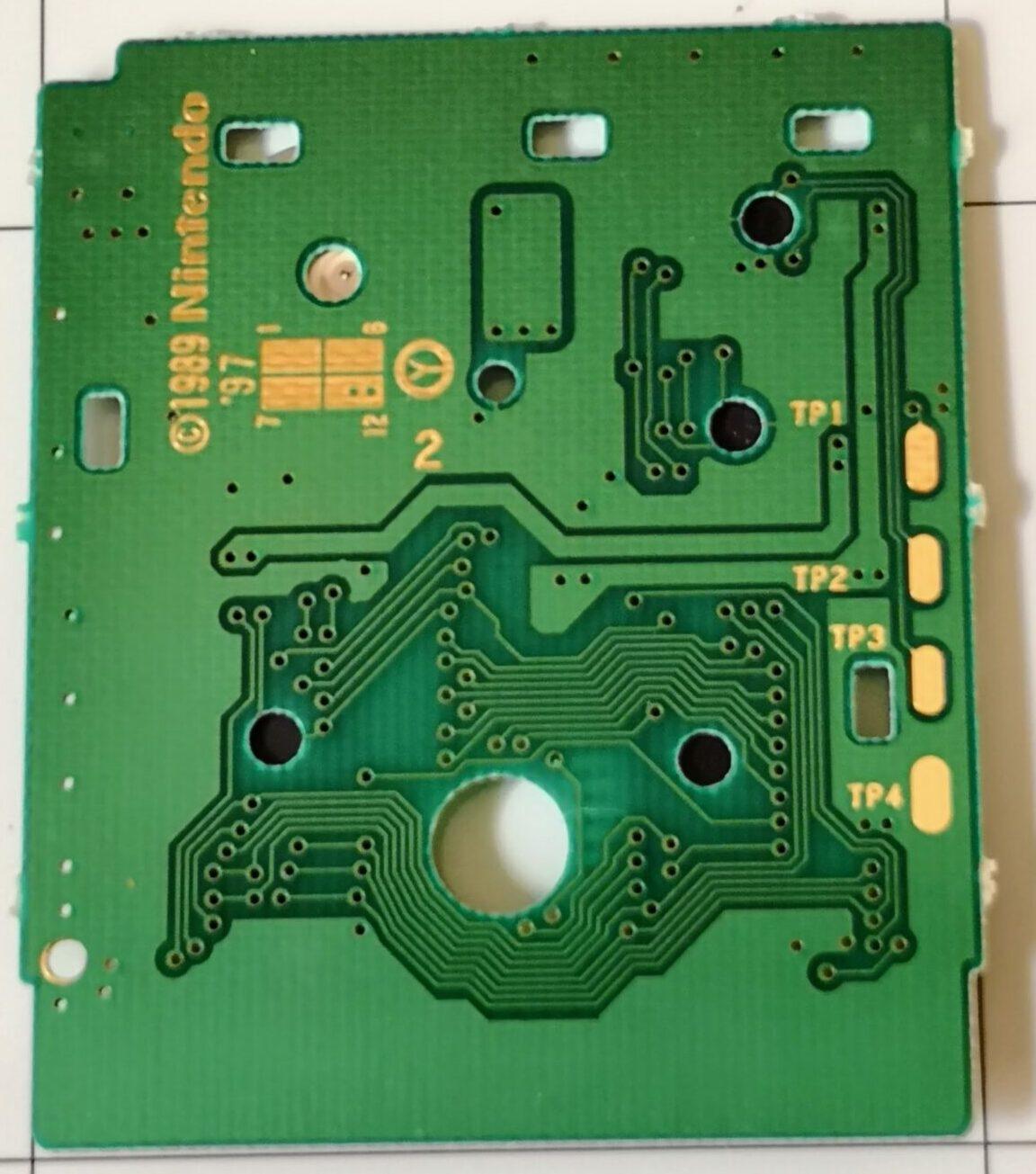 Metroid II: The Return of Samus, dettaglio posteriore Printed Circuit Board