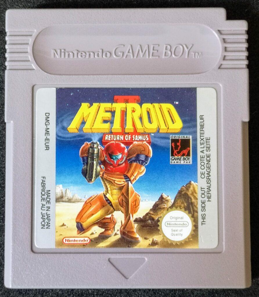 Metroid II: The Return of Samus, scheda di gioco (anteriore)