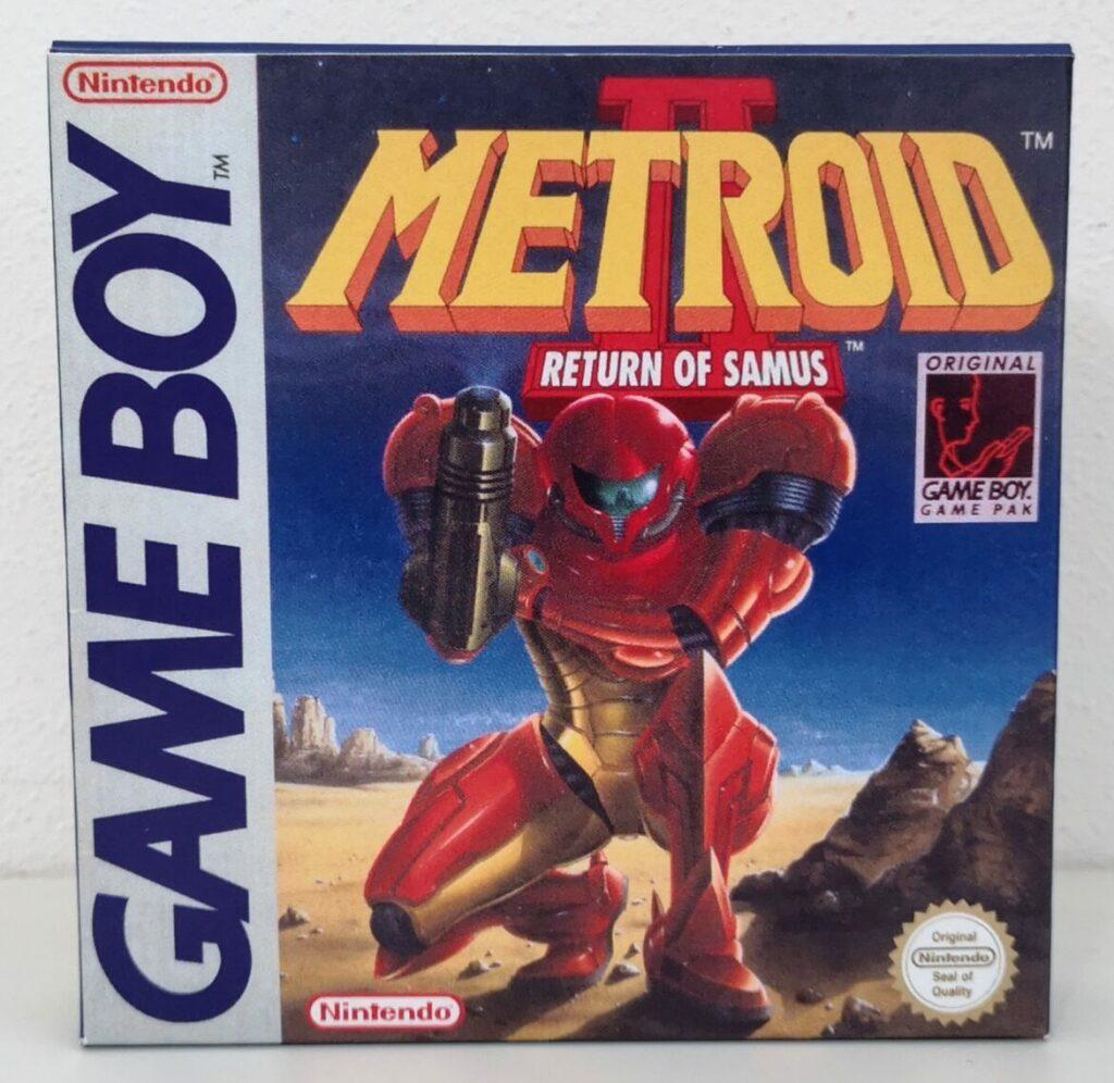Metroid II: Return of Samus (1992 Nintendo Game Boy), copertina frontale
