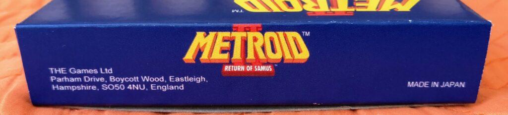 Metroid II: Return of Samus (1992 Nintendo Game Boy), laterale 1