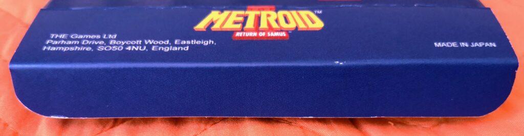 Metroid II: Return of Samus (1992 Nintendo Game Boy), dettaglio linguetta apertura