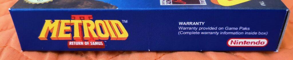 Metroid II: Return of Samus (1992 Nintendo Game Boy), laterale 4
