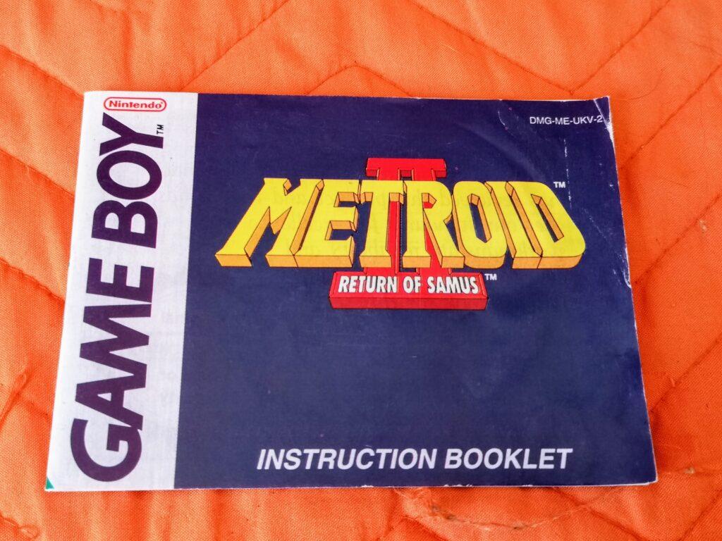 Metroid II: Return of Samus (1992 Nintendo Game Boy), instruction booklet